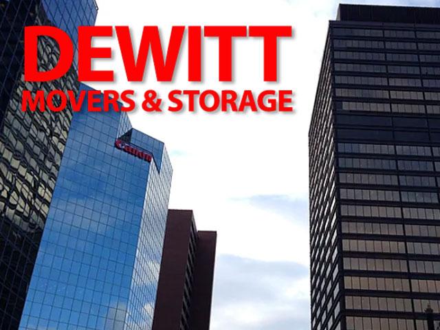 office building and Dewitt logo